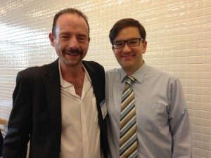 Timothy Ray Brown with searcHIV team member Joseph Tucker